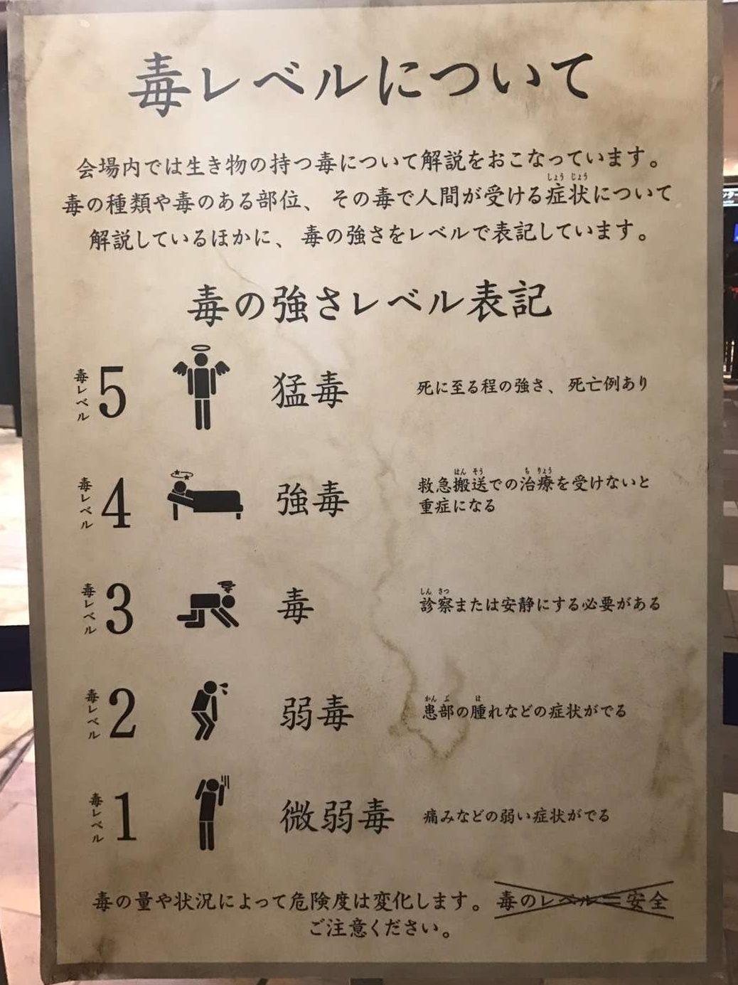 サンシャイン水族館の「毒毒毒毒毒毒毒毒毒展・痛(猛毒展2)」に行ってきました!